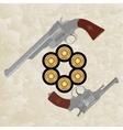 Revolvers and revolver ammunition vector image