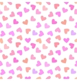 Seamless vintage white heart pattern on pink vector image