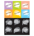 set bubbles for speech vector image vector image