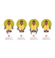 set guidance from steward african american flight vector image vector image