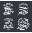 Shabby t-shirt emblem vector image vector image