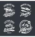 shabt-shirt emblem vector image vector image