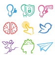 Simple color icons set vector image vector image