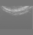 snow wind fog vector image vector image