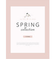 spring sale advertising banner template sticker vector image vector image