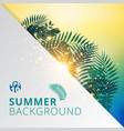 summer tropical with exotic palm leaves or plants vector image vector image