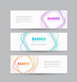 template of white banner with abstract tangled vector image vector image