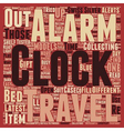 The Collectors Travel Alarm Clocks text background vector image vector image