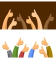 Thumbs Up Symbols Set vector image vector image