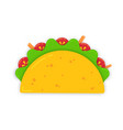 traditional mexican taco with carrot sticks vector image vector image