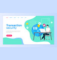 transaction security online support service page vector image vector image