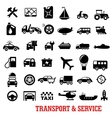 Transportation and car service flat icons vector image vector image