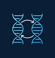 two dna colorful outline icon or logo vector image vector image