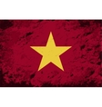 Vietnamese flag Grunge background vector image vector image