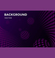 violet purple 3d abstract with with sphere ball vector image