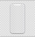 white mobile concept with empty screen for any vector image vector image
