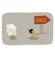 Wife Shopping vector image