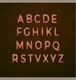 wooden alphabet with wood texture vector image