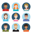 young people avatar vector image