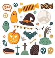 Halloween isolated elements collection vector image