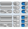 Metal Buttons And Switchers vector image