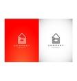 Real estate house monoline lineart logo icon vector image