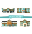 Schooll buildings on white vector image
