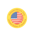 Badge for Independence Day and Fourth of July vector image