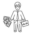 businessman line icon sign vector image