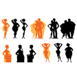 Dieting silhouettes vector image
