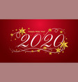 2020 happy new year lettering banner design vector image vector image