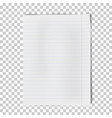a4 sheet of lined paper isolated on transparent vector image vector image