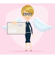 Angel woman with letter in an envelope vector image