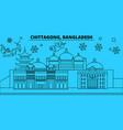 bangladesh chittagong winter holidays skyline vector image