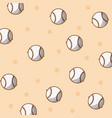 baseball sport balls background vector image