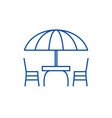 beach table and chairs line icon concept beach vector image vector image