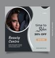 beauty center social media post template design