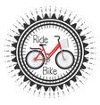bicycle adventure seal icon vector image vector image
