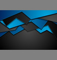 blue and black corporate material background vector image vector image