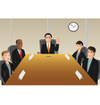 boardroom members vector image vector image