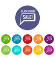 bubble speech sale black friday icon simple style vector image vector image
