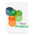 Business layout - select your product with sample vector image