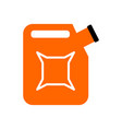 canister isolated jerrican of gasoline on white vector image vector image