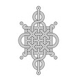 celtic knot - single chain - wand top loop sides vector image vector image