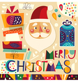 Christmas gifts and Santa vector image vector image