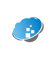 cloud data virtual vector image vector image