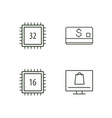 commerce outline icons set vector image vector image