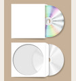 compact disk in paper envelope vector image