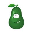 cute cartoon avocado character vector image vector image