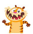 cute cartoon tiger character vector image